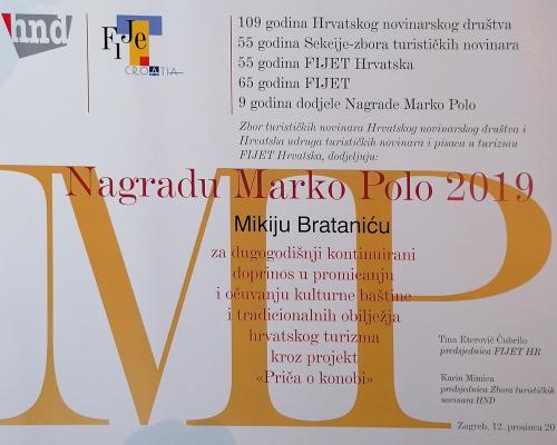 Miki-Bratanić-Nagrada-Marko-Polo-Plaketa